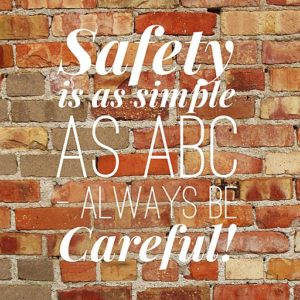 by: SafetyIsKey CC BY-SA 4.0, Always Be Careful.jpg Created: 16 July 2015