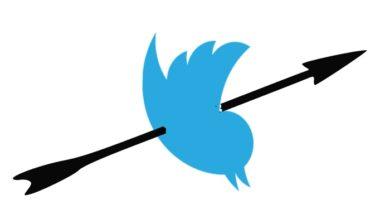 L'oiseau de Twitter se fait tirer une flèche