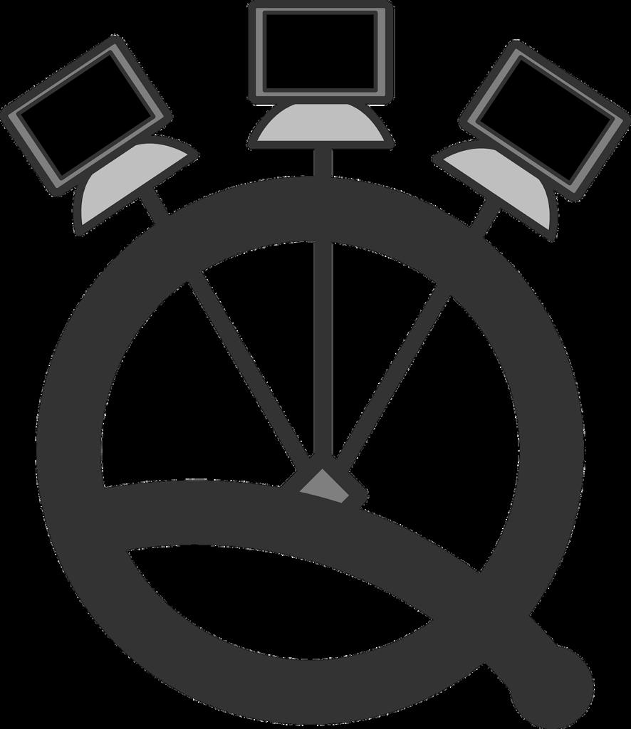 Schéma d'un réseau d'ordinateur quantique