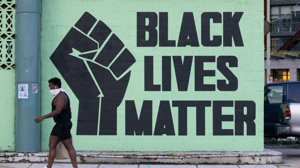 Murale du mouvement Black Lives Matter