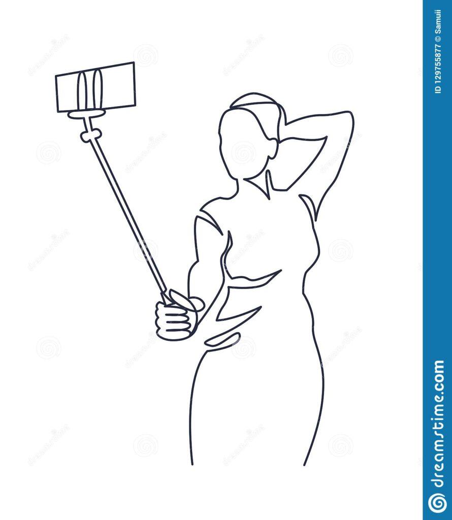 l'hypersexualisation dans les médias sociaux est souvent présent dans les selfie
